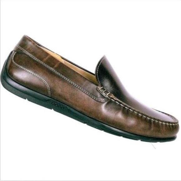 5381113cd5 ECCO Men Leather Driving Loafer US 11 UK 44 EE